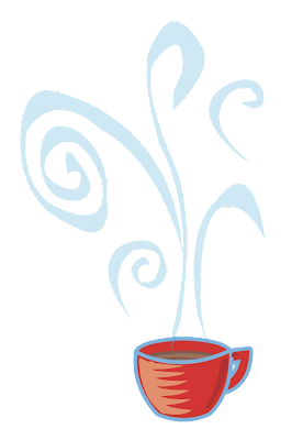 hot cocoa or hot coffee mug or cup with swirly steam red cup free digital download