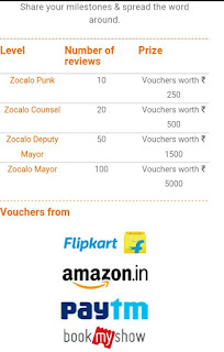 Zocalo free vouchers on refer and earn