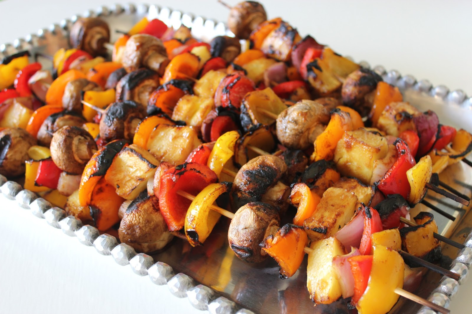 Marinated Summer Vegetables Grilled On Rosemary Skewers Recipe ...