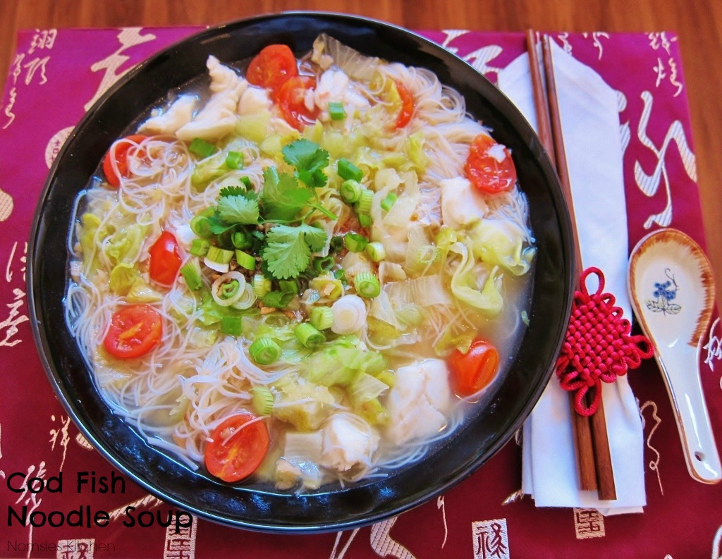 Cod Fish Noodle Soup Recipe from Nomsies Kitchen