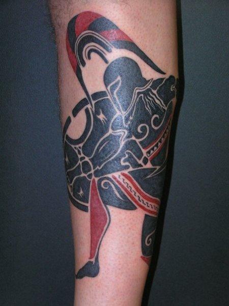 Londinoupolis greek tattoos for Greek sculpture tattoo