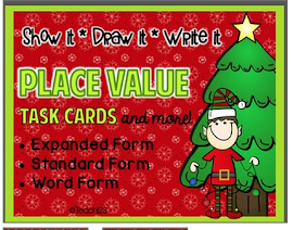 FREE: Christmas Place Value Task Cards