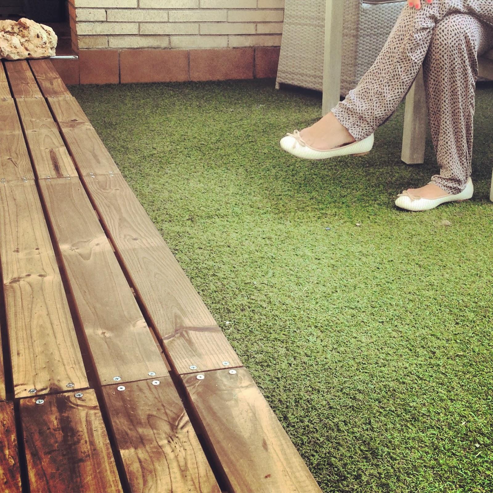 Realizaci n de una tarima de madera para terraza rojosill n - Tarima para terraza ...