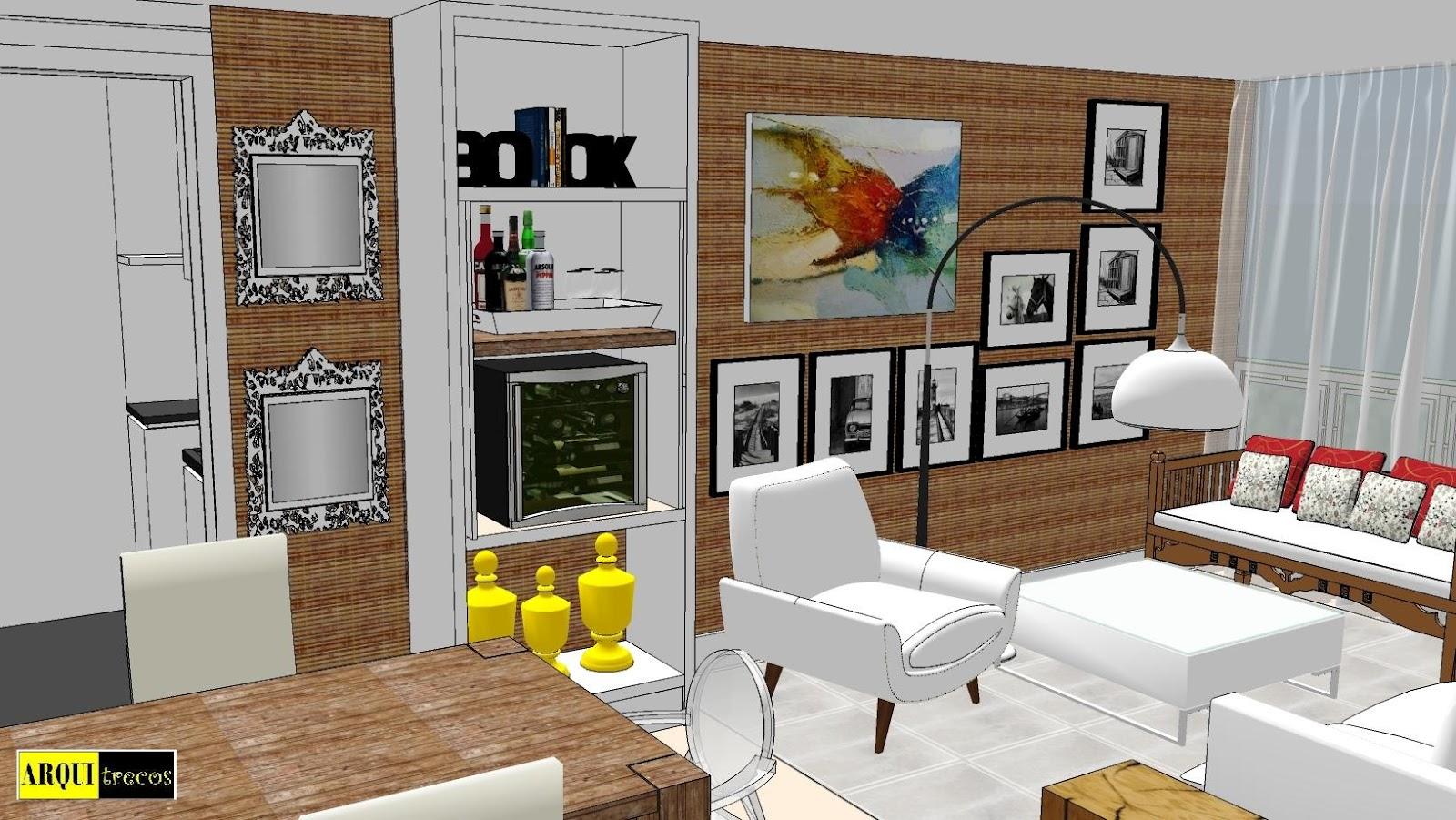 blog de decoração Arquitrecos: Bar em Casa Arquitrecos no Jornal  #AF921C 1600x901
