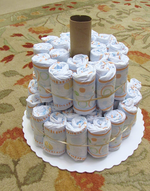 How To Make A Diaper Cake With Receiving Blankets Video