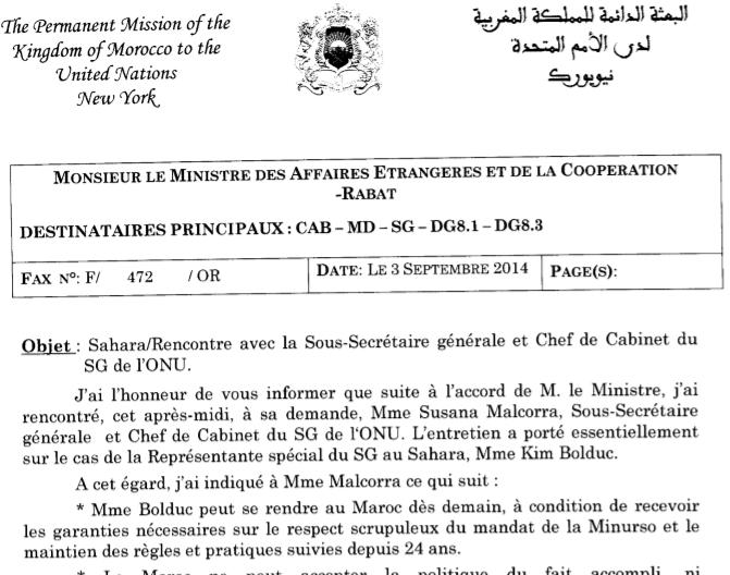 Wikileaks marocain : A propos du conflit du Maroc avec la MINURSO