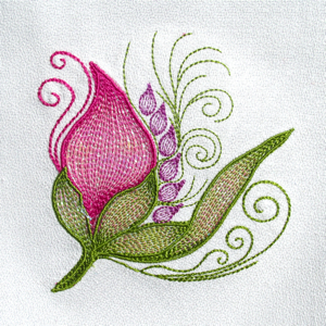mini embroidery flower