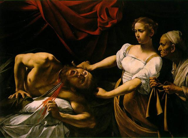 Caravage, Judith décapitant Holofernes, 1598-1599