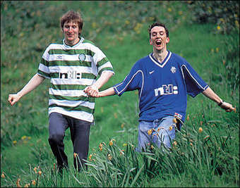 Image result for celtic and rangers fans happy