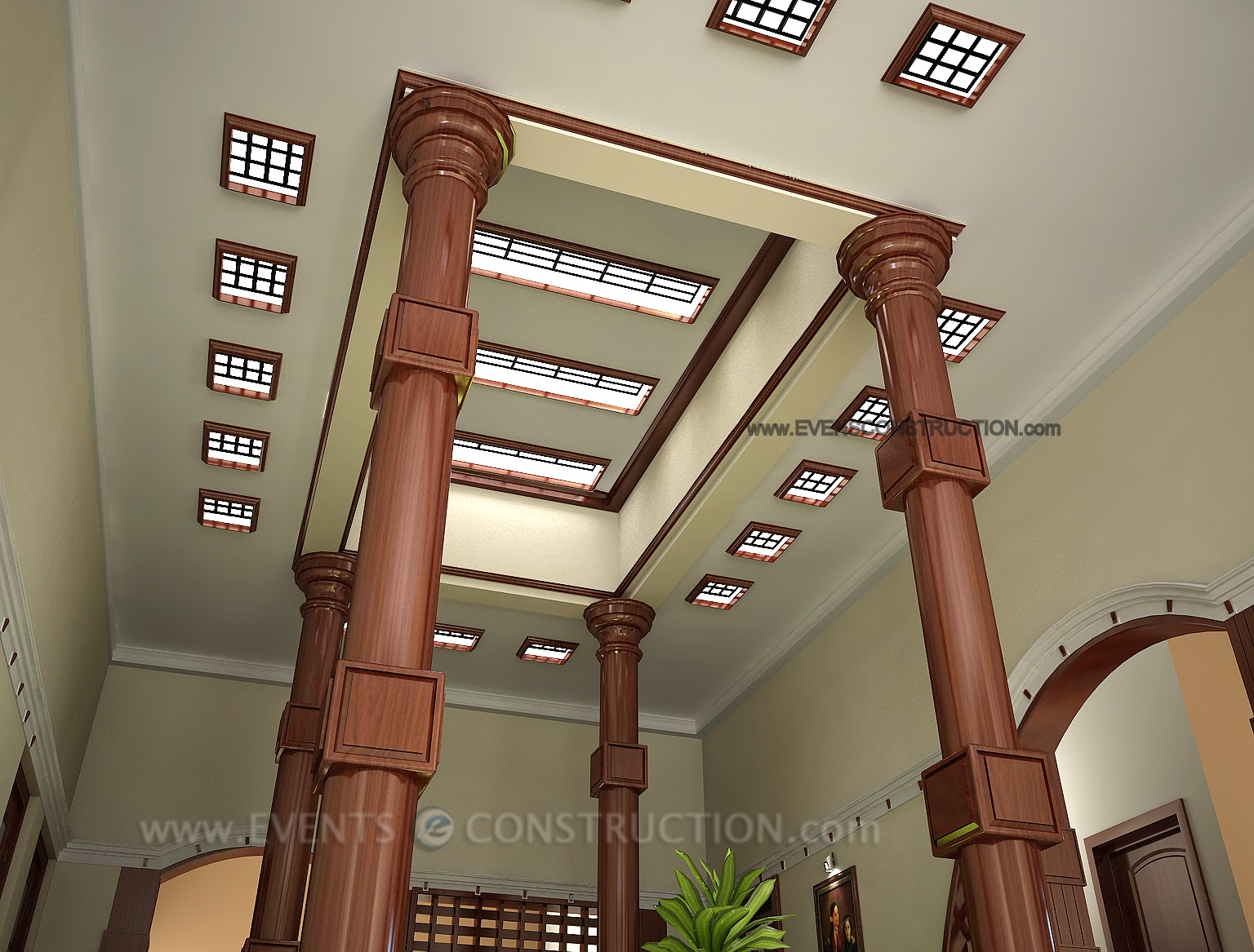 Ceiling Designed Home