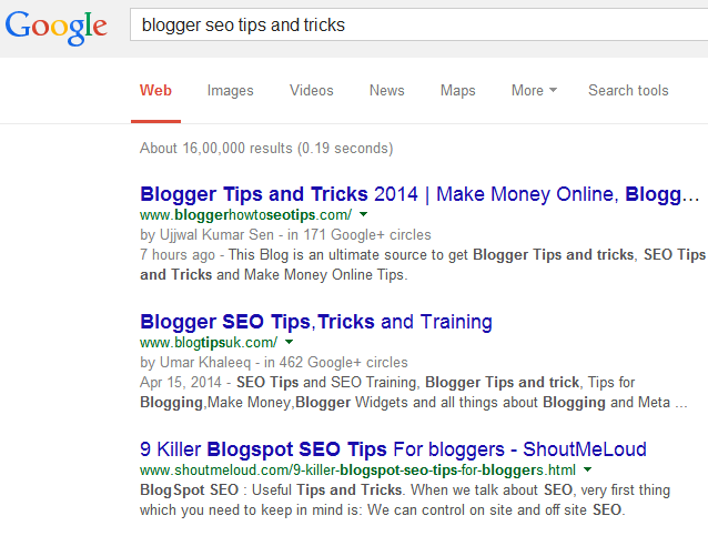 Blogger SEO Tips and Tricks