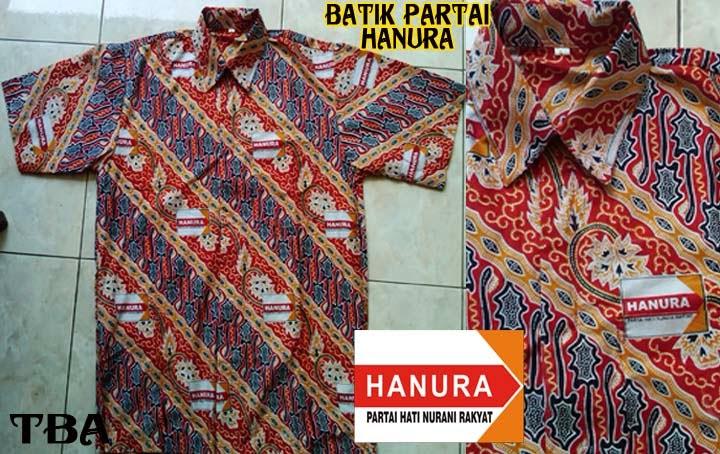 Batik Partai hanura,seragam partai hanura,kemeja partai hanura,konveksi batik