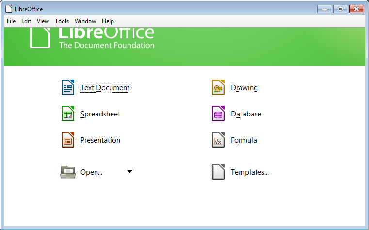 libreoffice database templates