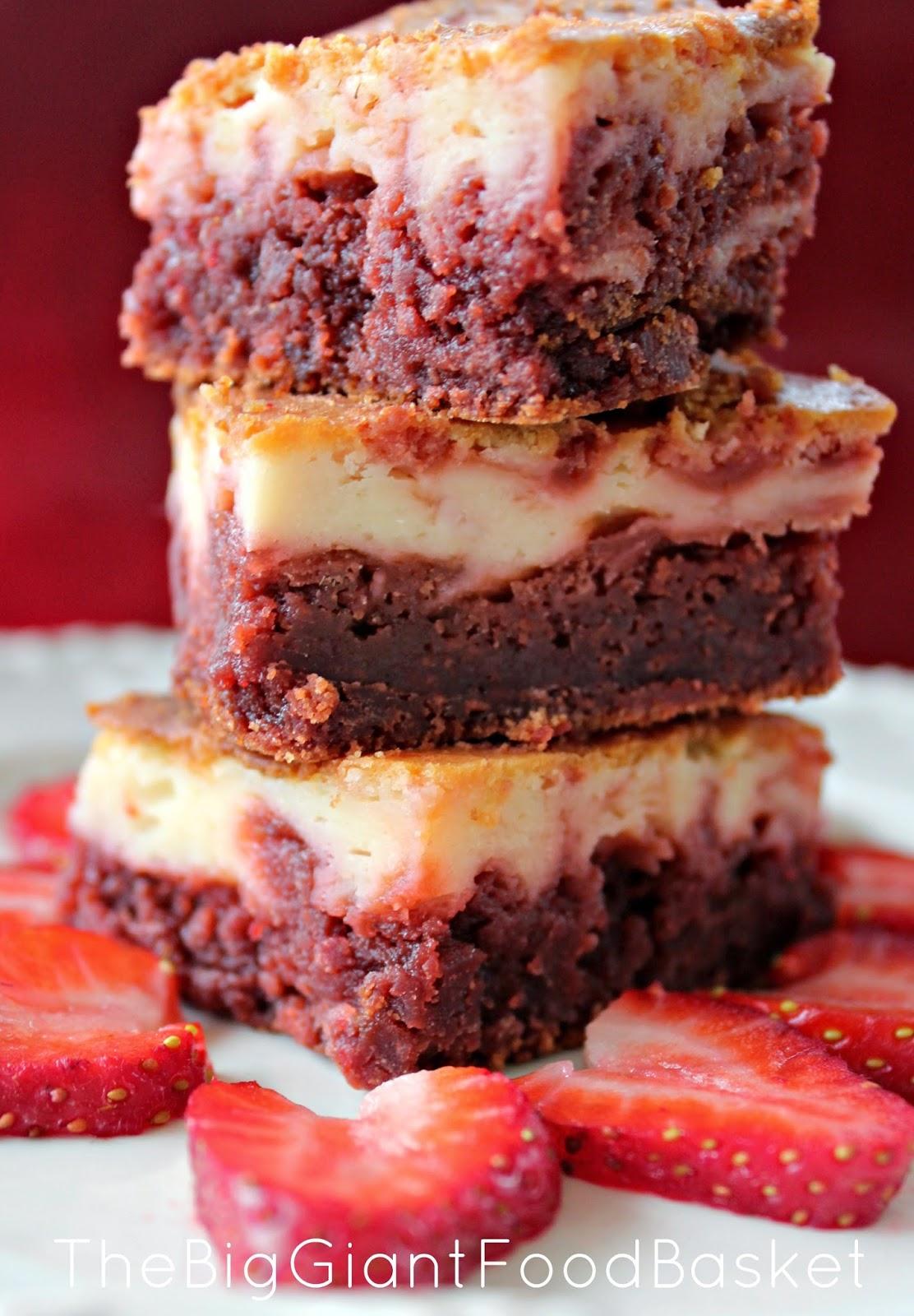 The Big Giant Food Basket: Red Velvet Cheesecake Swirl Brownies