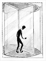 revolving door cartoon