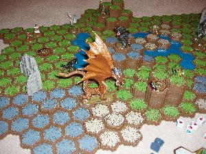 Heroscape close up.