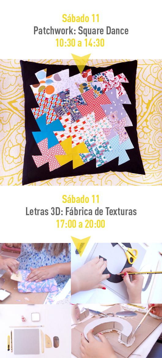 Monográficos Patchwork y letras en 3D en Trapo y Tela