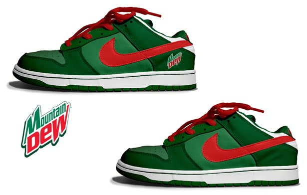 The designed dew the dunk low customed for two versions, one with the logo  and one without the logo.Source at sneakerobsession.