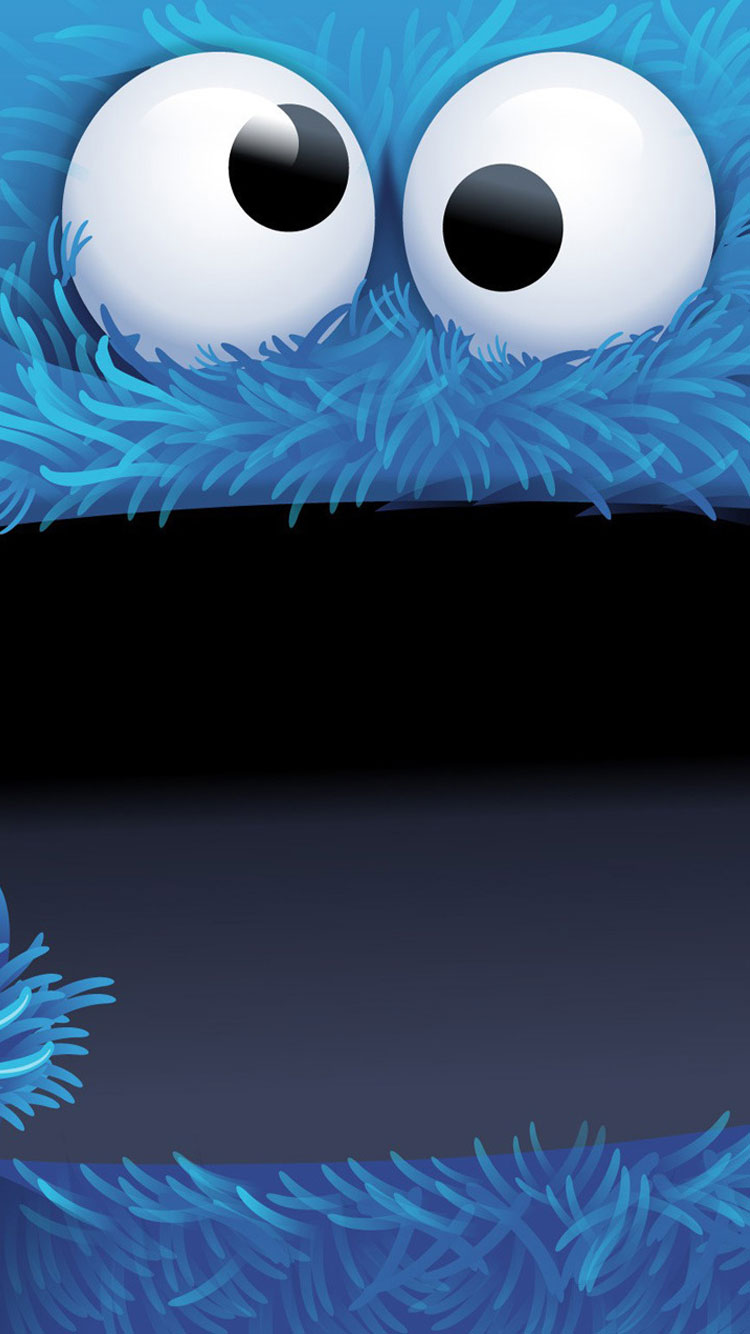 Cookie Monster iPhone 6 Wallpaper