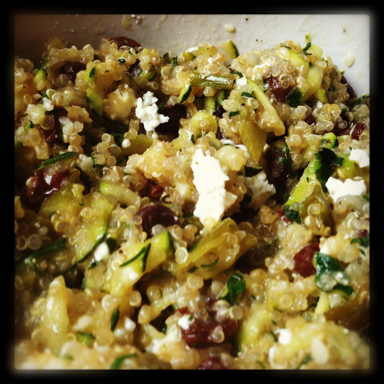 morsels & sauces: Lemon Quinoa with Currants, Dill, Zucchini and Feta