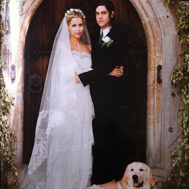 JESTINA GEORGE PEACHES GELDOF SHARES HER WEDDING PICTURES ON