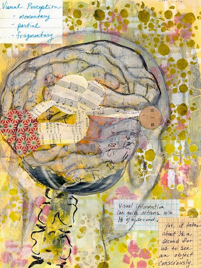 art journal page,  visual perception, gallery juana