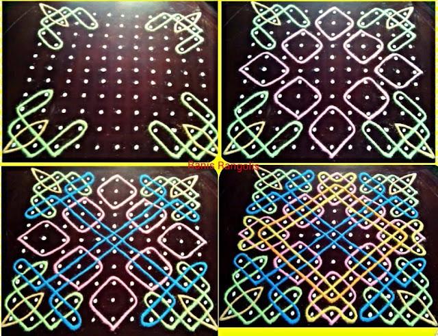 Rangoli with Dots Design 3