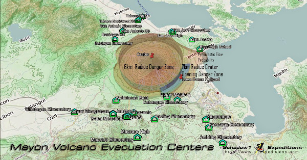 Mayon Volcano Evacuation Centers - Schadow1 Expeditions