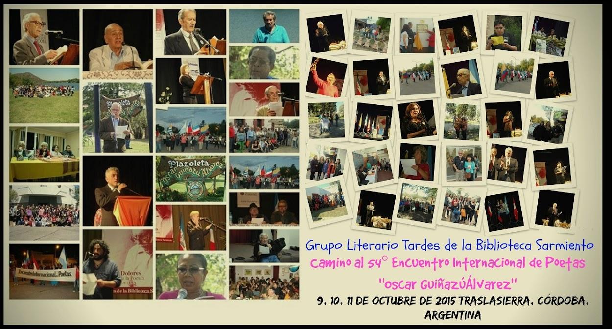 Grupo Literario Tardes de la Biblioteca Sarmiento. POESIA DE TRASLASIERRA