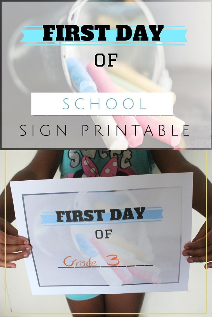 back to school sign printable
