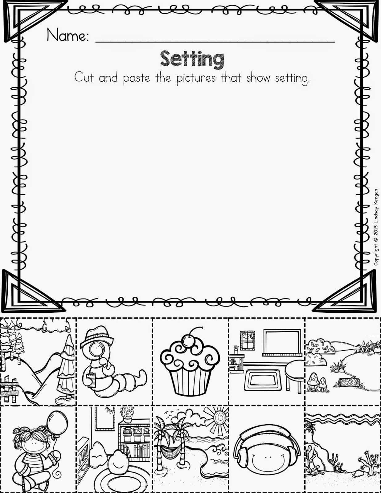 worksheet Elements Of A Story Worksheet keeping it cool at school teaching story elements and a princess i love through music so created 3 short songs to help my students remember how find the setting characters confli