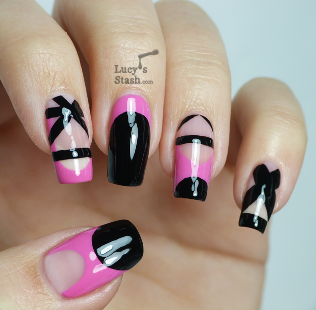Lucy's Stash: Dress inspired nail art design