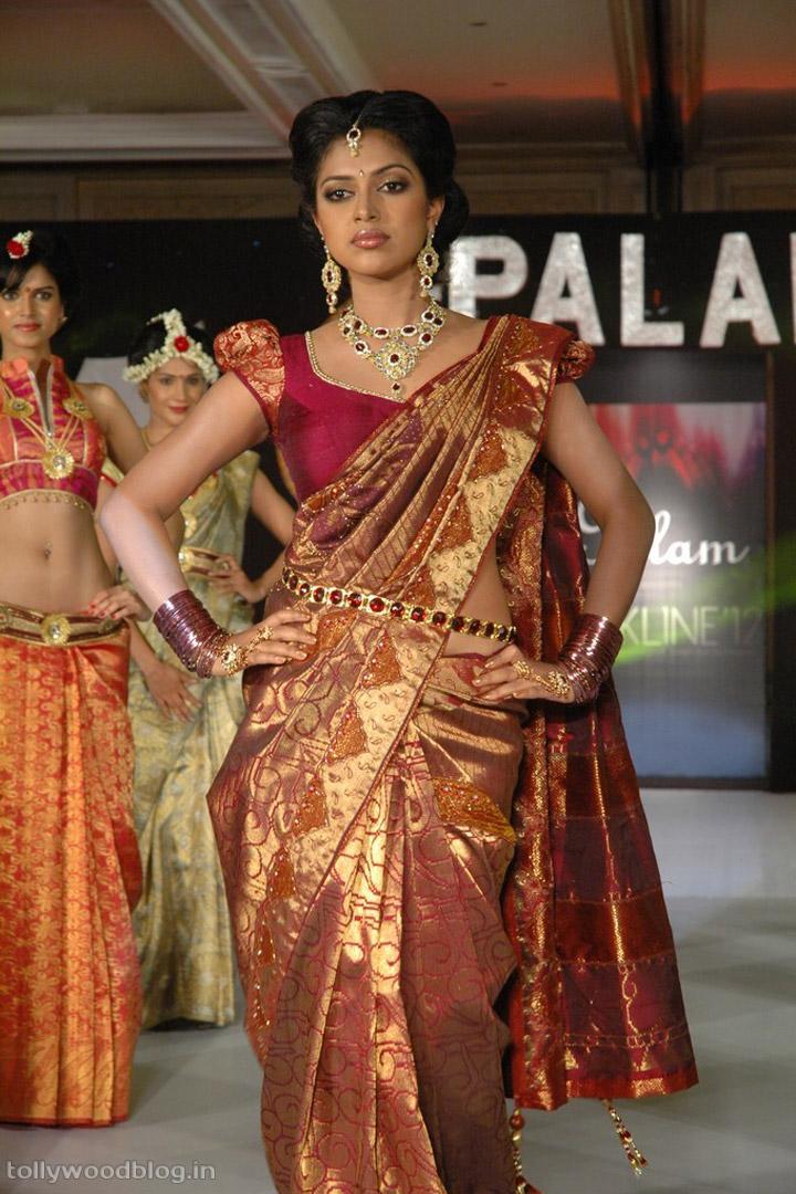 Amala Paul Latest Photos In Saree From Fashion Show