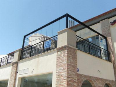 Cerramientos sin techo cerramientos en le n - Cerramientos de aluminio para balcones ...