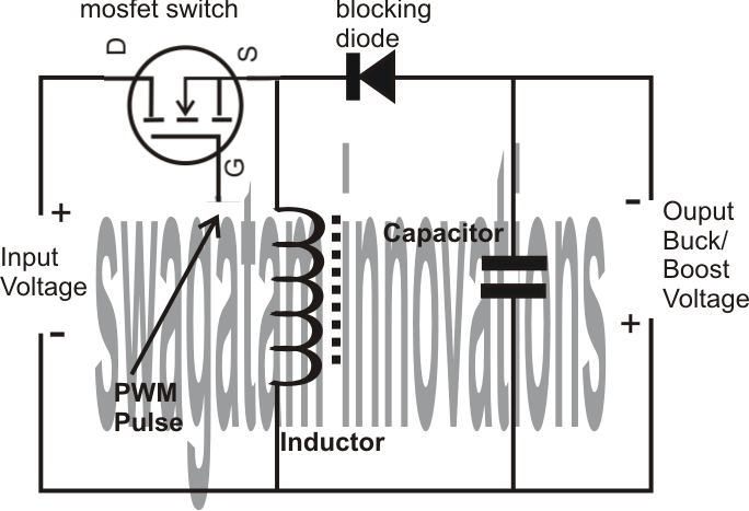 smps circuit diagram using mosfet smps image how smps buck boost circuits work electronic circuit projects on smps circuit diagram using mosfet