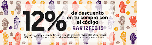 Chollos cupón 12% descuento Rakuten febrero 2015