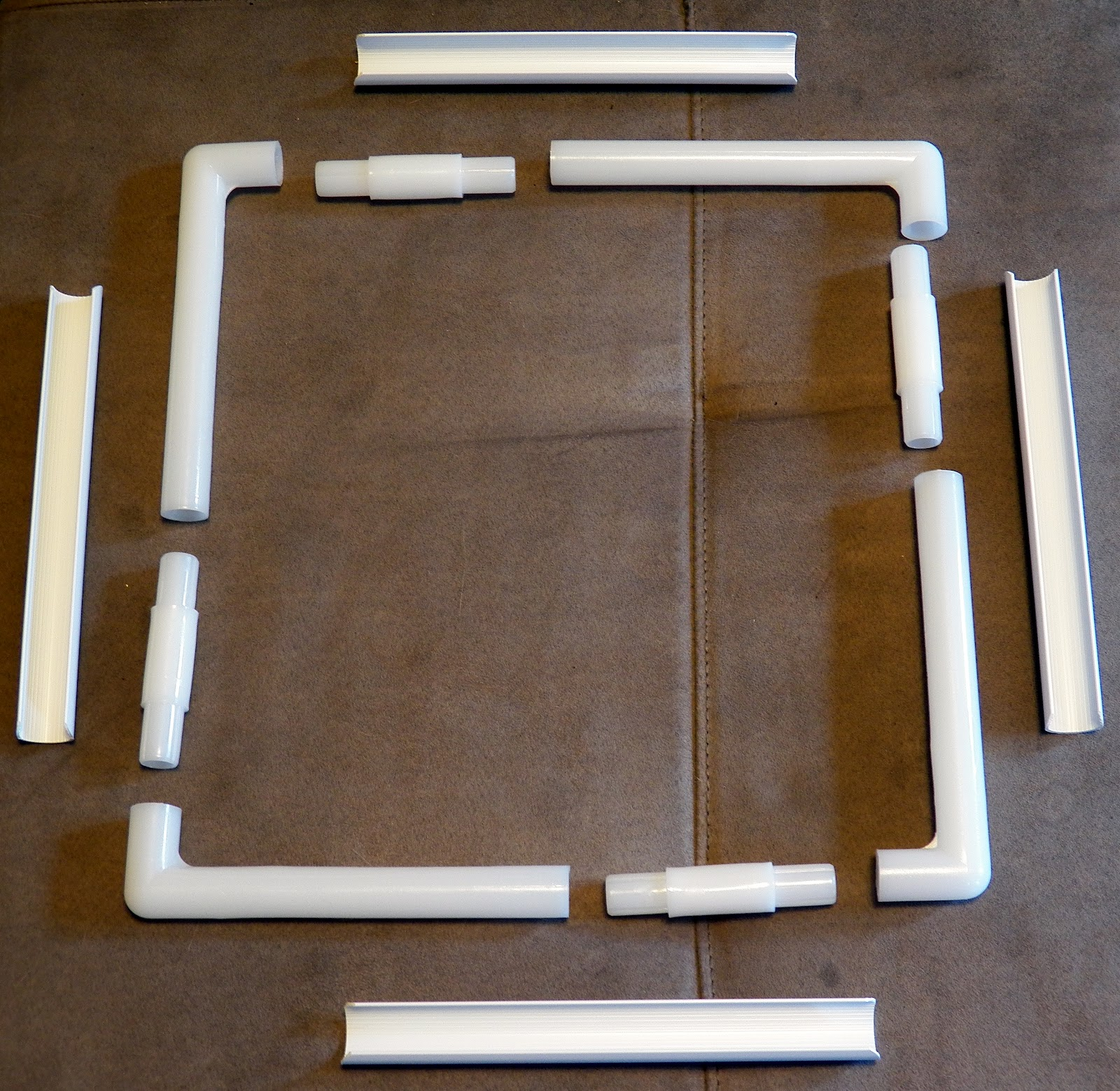 11 q snap frame disassembled