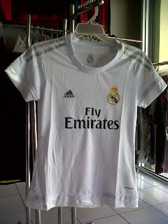 Jual jersey Ladies Real Madrid Home 2015/2016 di toko jersey jogja sumacomp, murah berkualitas import