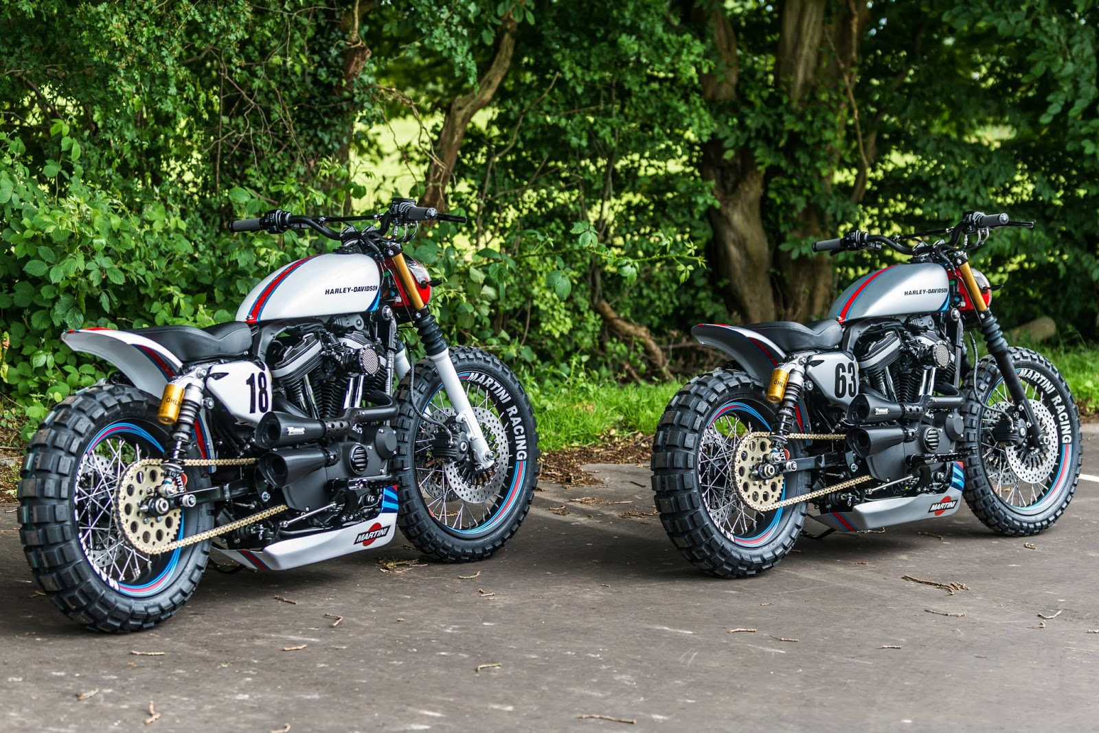 """Petes Auto Parts >> MotoGp: Harley """"Martini Sportster's"""" by Shaw Speed & Custom"""