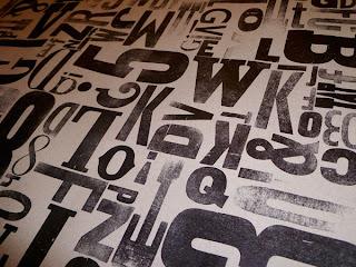 Wood type print