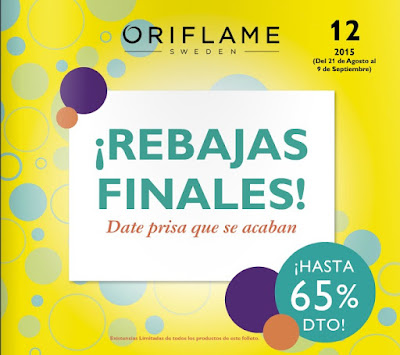 Rebajas Oriflame España Campaña 12 2015