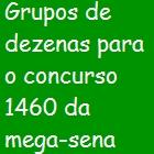 ganhar na mega sena Ganhar na mega sena: grupos de dezenas para o concurso 1460