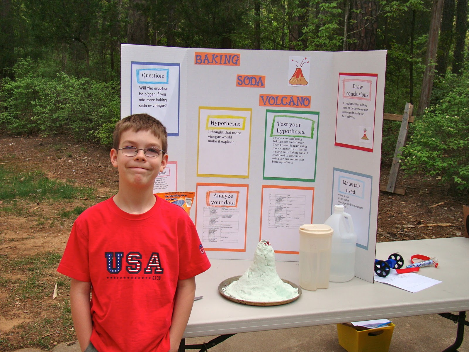 volcano science fair project