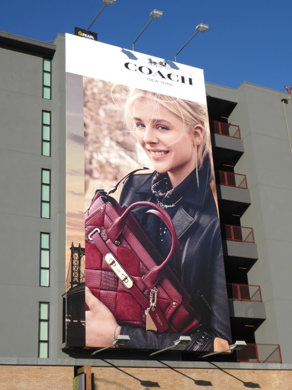Coach Chloe Grace Moretz F/W 2015 billboard