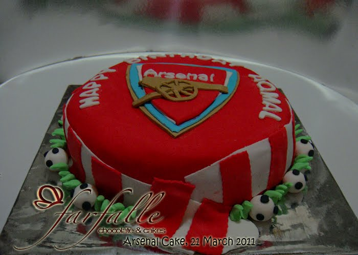 Farfalle Chocolate & Cakes: Arsenal Cake