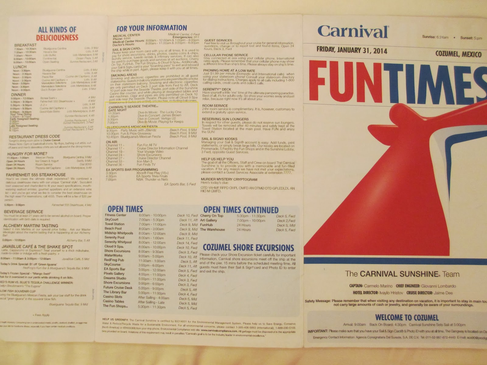 Travel Reviews & Information: Carnival Sunshine Cruise ~ 7-day ...