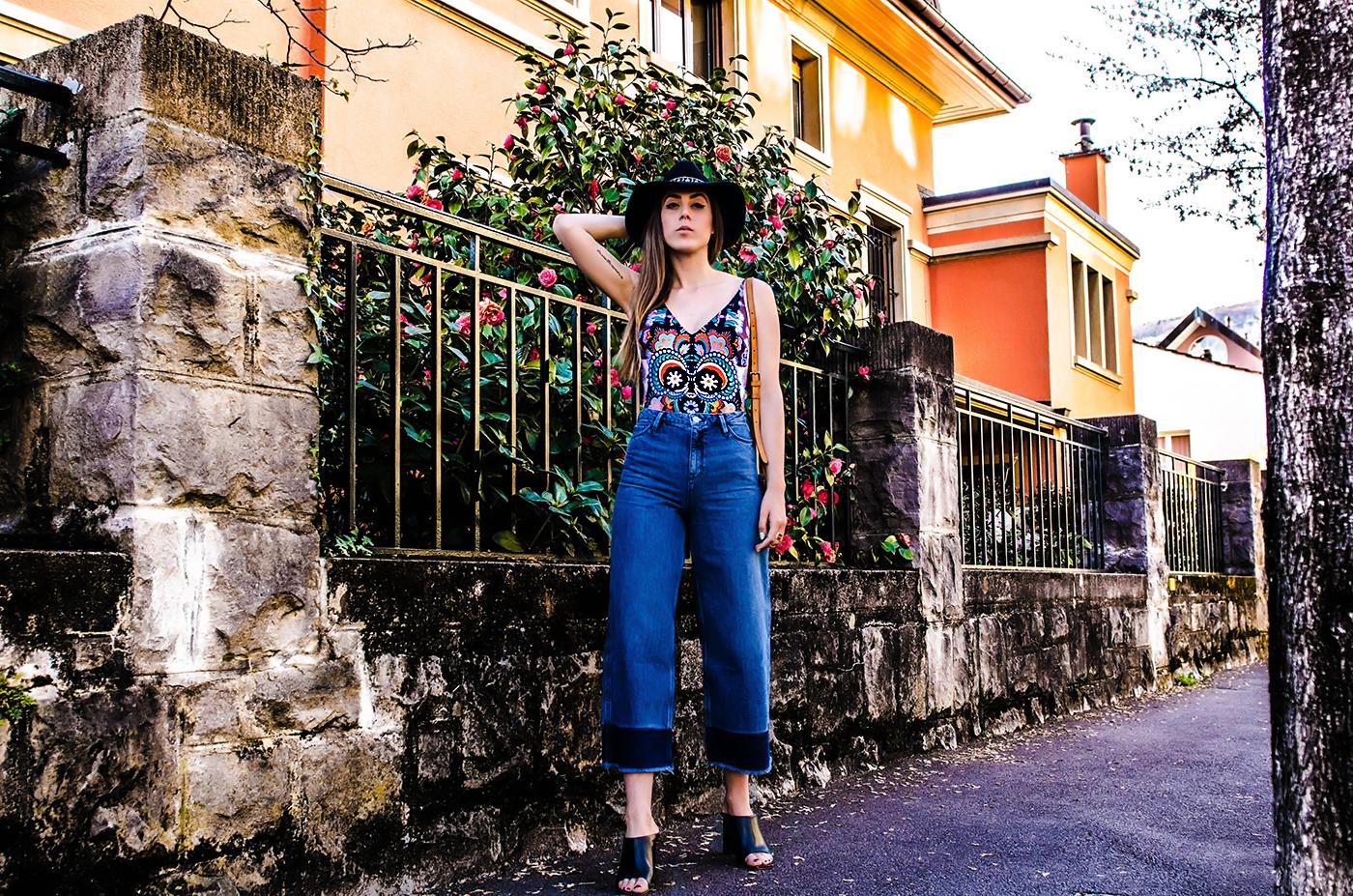 alison liaudat, blog from switzerland, swiss fashion blogger, blog mode suisse, swiss blog, beauty blogger swiss, denim culotte, trend spring 2015, denim, H&M trend collection,
