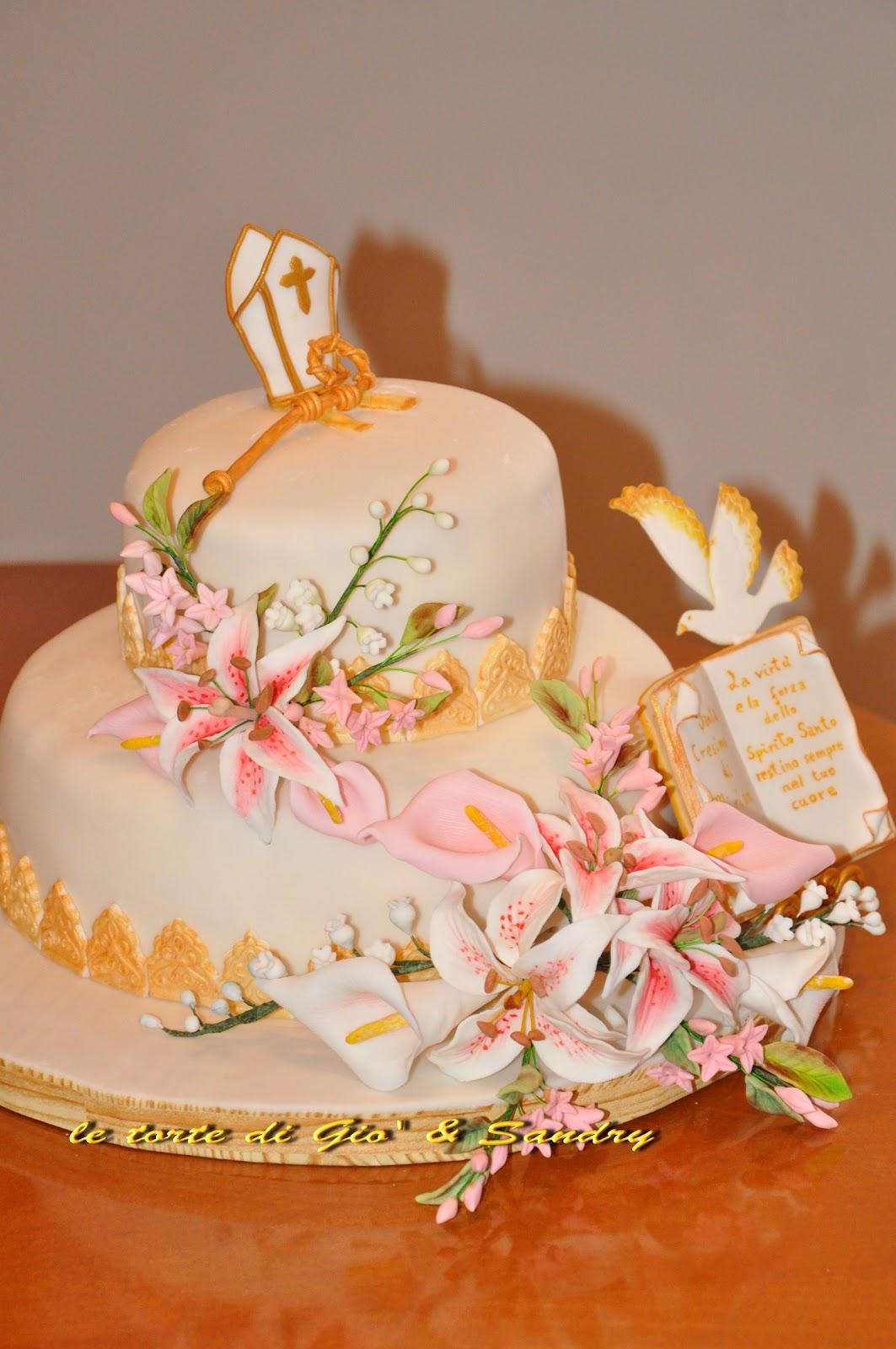 Finest tutte le decorazioni della torta fiori e simboli - Decorazioni per cresima ...