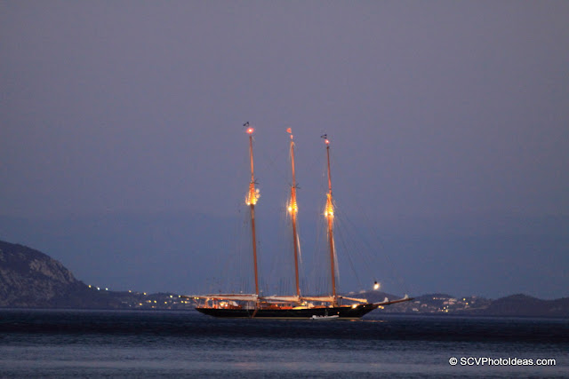 3 masted ship overnight anchor