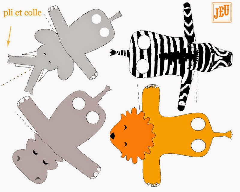 Free Printable Animal Finger Puppets
